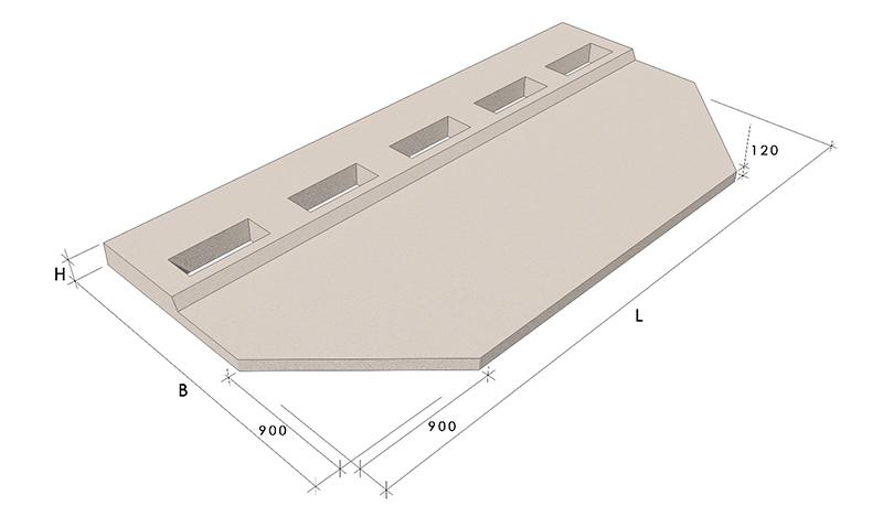 Балконные плиты пб-3.